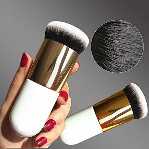 New Chubby Pier Foundation Brush Flat Cream Makeup Brushes Professional Cosmetic Make-up Brush (Brush Mason Travel Pearson)