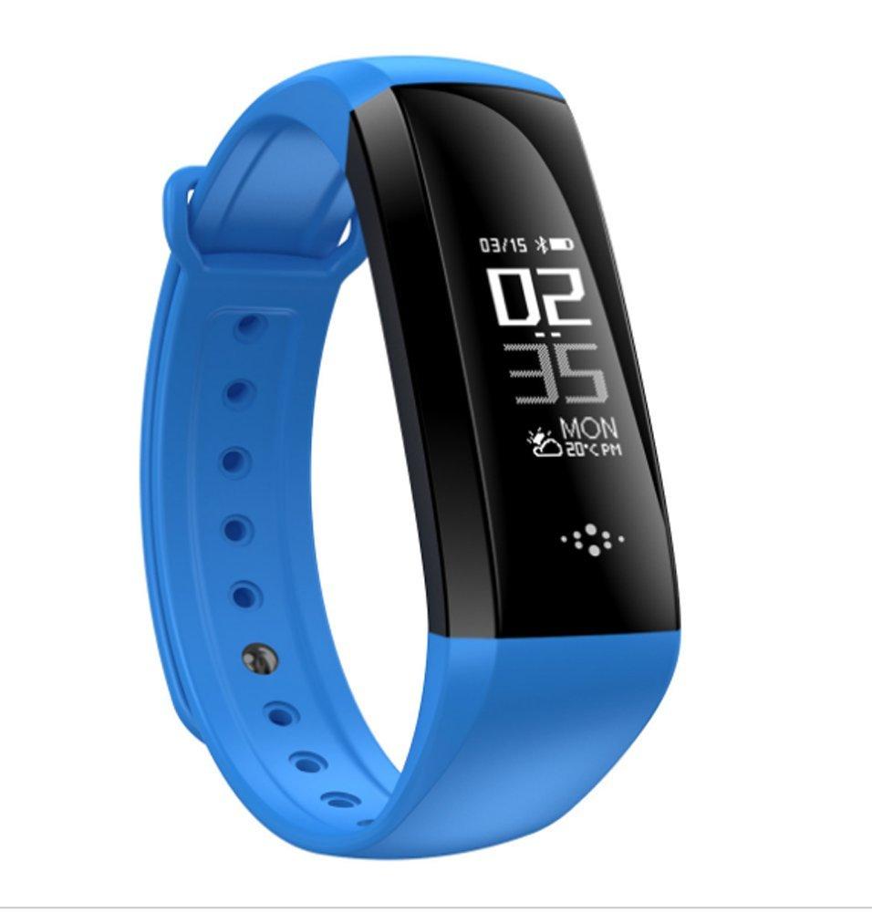 wfdrd Fitness Tracker、スマートブレスレットカウンタブレスレット、血圧モニタリストバンド連続ハートレートスリープ監視AndroidとiOS携帯電話防水スマート腕時計 B07BKTKJNX ブルー