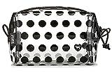 Victoria's Secret PINK Small Makeup Beauty Bag Clear/ Black Polka Dot