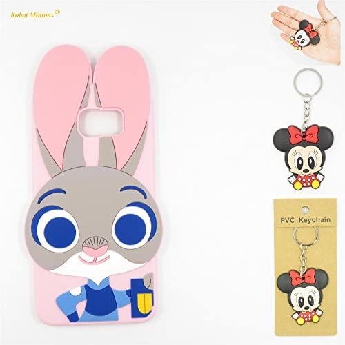Galaxy S7 Case,Galaxy S7 Soft Silicon Gel Rubber Case,Robot Minions Cute Cartoon Zootopia Smart lovely Rabbit Sales