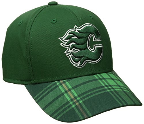 NHL Columbus Blue Jackets Adult Men NHL SP17 St. Patrick's Day Structured Flex Hat,S/M,Green