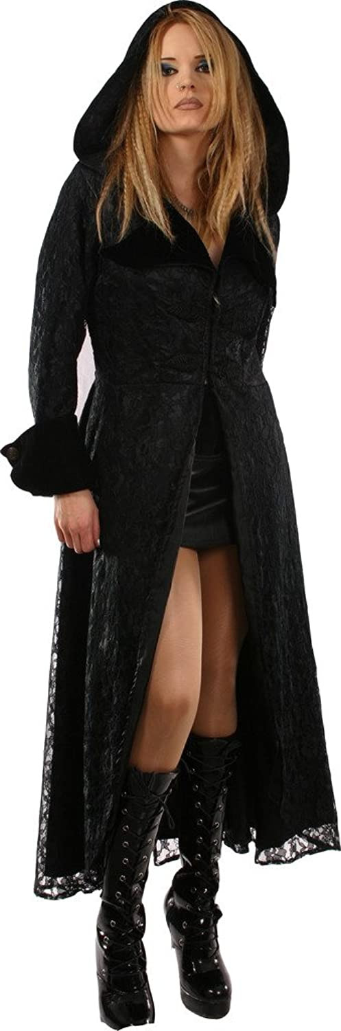 BARES Gothic Outwear Long Coat with Hood