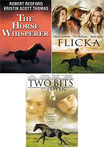 2 Girls, Magic & Horsing Around Two Bits & Pepper + Country Ranch Flicka + The Horse Whisperer Robert Redford Triple Feature DVD Movie Pack
