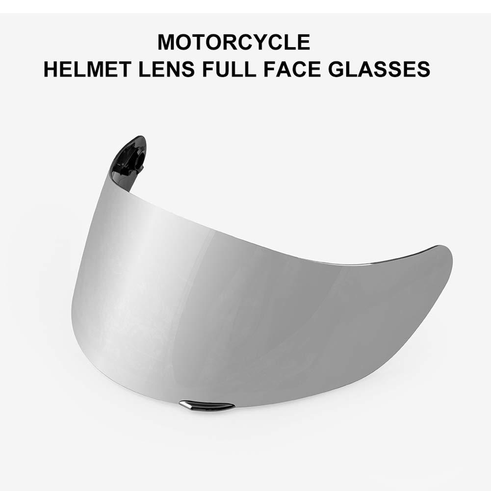 Inicio Motorradhelm Visier Windschutz Helm Objektiv Visier Vollgesichts Fit f/ür Motocross AGV K3 SV K5