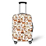 "Cozeyat Luggage Cover Dog Animal Print Suitcase Protector 18"" 24"" 28"""