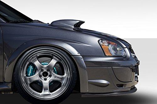 Duraflex ED-DCR-478 Rally Front Fender Flares - 4 Piece Body Kit - Compatible For Subaru Impreza 2004-2005