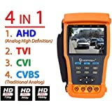 Evertech 3.5 4in1 AHD TVI CVI Traditional Analog CCTV Video Security Camera PTZ Tester