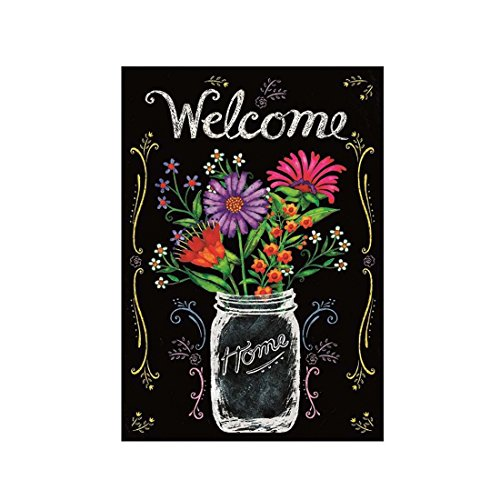 Custom Decor Flag Wildflower Jar Garden flags decorative flags initial flags party flags 28 x 40 Inch Double Sided banner home flags Print house flags