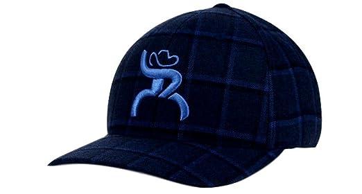 big sale f4a68 6ad1d ... cheap hooey slim blue plaid flex fit structured hat 4312bknv l xl 47c09  cad5b