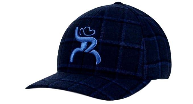 sale retailer a08c6 ff456 ... france hooey slim blue plaid flex fit structured hat 4312bknv s m ed50d  02e04