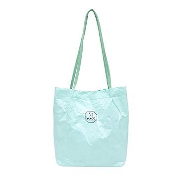 e3d59433c Pinleg Handbag Women's Retro Kraft Paper Splash-Proof Shoulder Bag Solid  Color Letter Vintage Waterproof