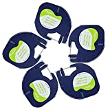 Compatible Dymo LetraTag Label Tape 5Pack 91330 91220 91200 59421 S0721510 Tape Cassette Paper Black on White Cartridge Labeling Tape Refills by Label Orison ,1/2 Inch X 13Feet