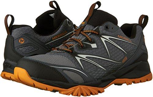 Merrell Men's Capra Bolt Waterproof Hiking Shoe, Grey/Orange, 9.5 M US by Merrell (Image #6)