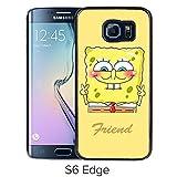 Durable and Fashionable Case Design with Best Friend SpongeBob Patrick 1 Samsung Galaxy S6 Edge Black Phone Case