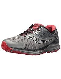 Saucony Men's Ride 10 GTX Running Shoes, Grey/Red