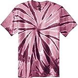 Joe's USA Koloa Surf (tm) Youth Colorful Tie-Dye T-Shirt,M-Maroon