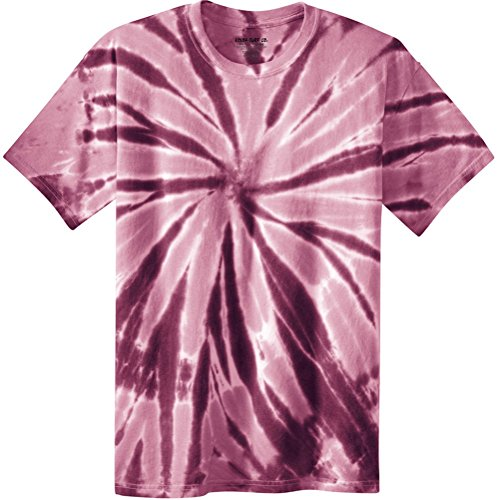 Joe's USA Koloa Surf (tm) Youth Colorful Tie-Dye T-Shirt,S-Maroon