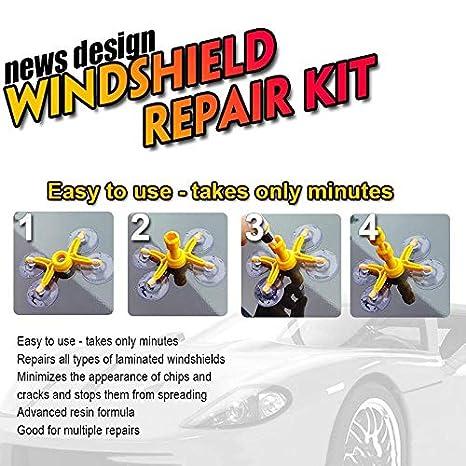 ZREAL Car Window Glass Crack Chip Resin Windscreen Windshield Repair DIY Tool Kit Set