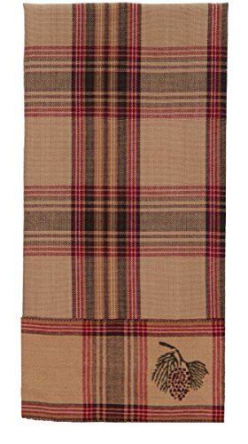 (Olivia's Heartland Pinecone Dishtowel - Country Farmhouse Kitchen Dish Towels)