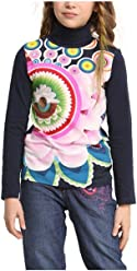 Desigual Little Girls Parauta Long-Sleeved T-Shirt 48T3052-5096-4