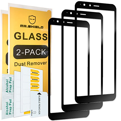 [3-PACK]-Mr Shield For ASUSZenFoneMaxPlus [Japan Tempered Glass] [9H Hardness] [Full Cover] Screen Protector with Lifetime Replacement Warranty