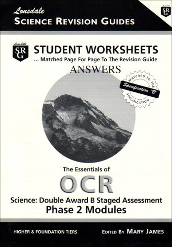 214A: OCR Phase 2 Workbook Answers: Student Worksheets - Answer Book (Worksheet Answers) Mary James