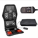 Professional Electric Car Seat Massage Cushion with 5 Model Vibration and Cord Heating Massage Cervical Neck Back Hips Legs 8 IN 1 Household Chair Massager