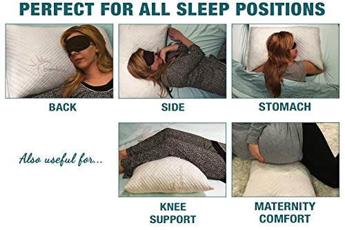 Pillows for Sleeping, Hypoallergenic Bed Pillow for Side Sleeper – ADJUSTABLE Loft...