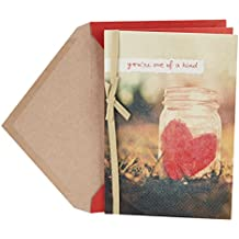 Hallmark Valentine's Day Greeting Card (Mason Jar with Paper Heart)