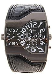 Foxnovo Pixnor Fashion Waterproof Mens Dual Time Display Quartz Wrist Watch