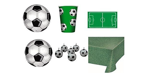 Vajilla infantil Sport Fútbol para cumpleaños eventos ...