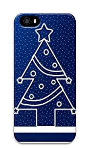 iPhone 5 5S Case Happy & Merry Christmas 3D Custom iPhone 5 5S Case Cover