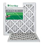 FilterBuy 12x12x1 MERV 8 Pleated AC Furnace Air Filter, (Pack of 2 Filters), 12x12x1 – Silver