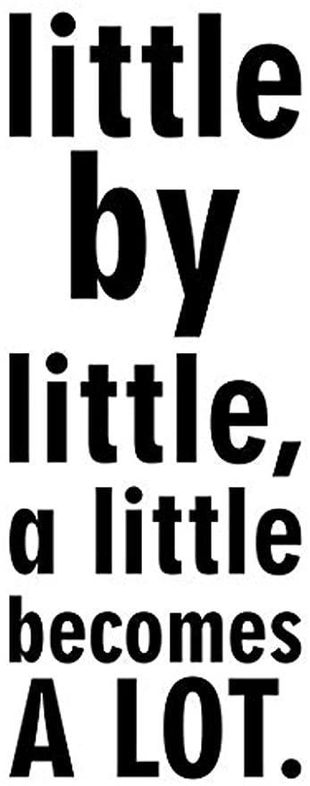 Amazoncom Little By Little A Little Becomes A Lot Life Kids Home
