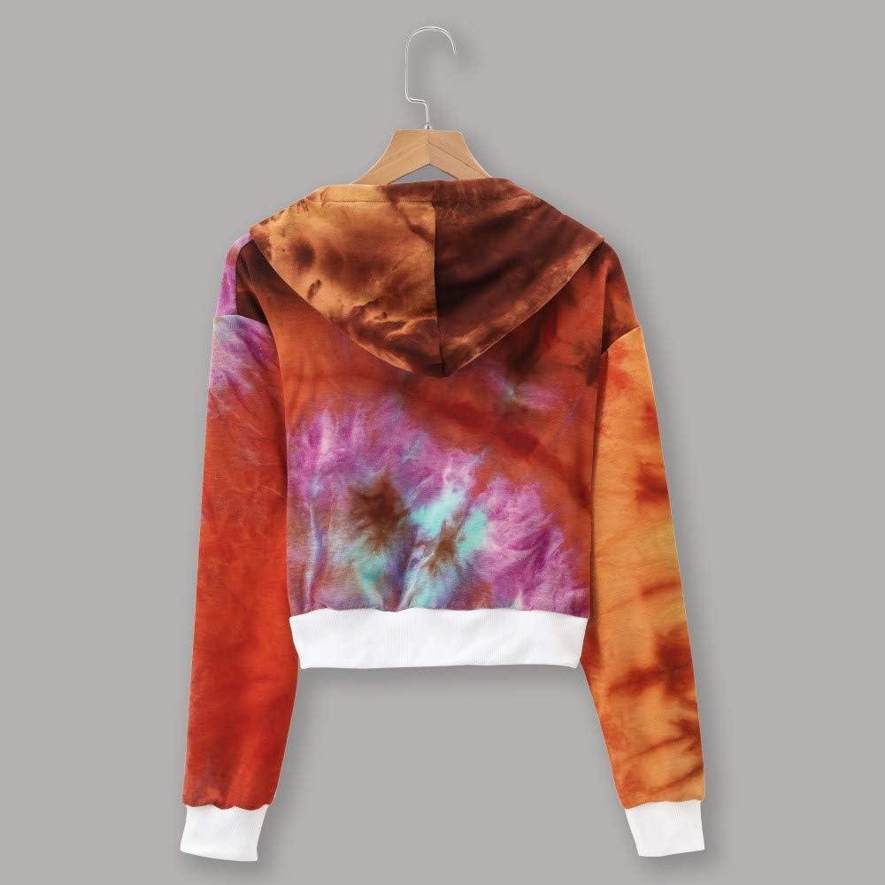 Cathalem Women Hoodies Sweatshirt Color Patchwork Cute Long Sleeve Shirt Pullover Tops Sweaters Blouse