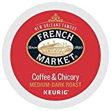 French Market Coffee Single Serve Cups, Medium-Dark Roast With Chicory, 12 count