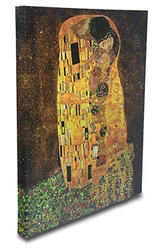 Homekor The Kiss, Gustav Klimt Art Reproduction - Giclee Canvas Print Wall Art Home Decor 16x20