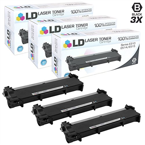 LD Compatible Toner Cartridge Replacement for Dell 593-BBKD P7RMX High Yield (Black, 3-Pack)