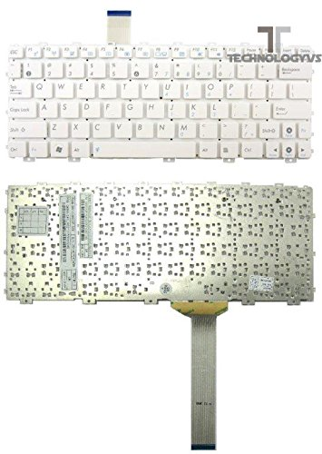 Para Asus Eee PC 1018P Series auténtica teclado para ordenador portátil blanco UK Layout: Amazon.es: Electrónica