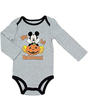 Disney Mickey MY 1ST HALLOWEEN Baby Boys Bodysuit Dress Up Outfit