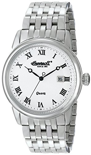 Ingersoll Men's INQ030WHSL Grafton Analog Display Japanese Quartz Silver Watch