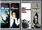 Clint Eastwood Dirty Harry Films Gauntlet & Enforcer + Escape from Alcatraz 4 Movie Collection Double pack