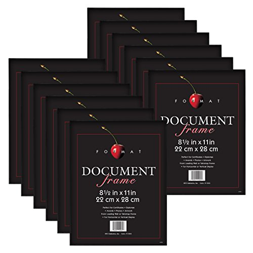 MCS 8.5x11 Inch Format Frame 12-Pack, Black - Frames Glass Popular