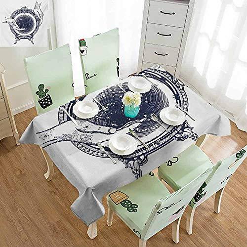 QIAOQIAOLO Modern Long Tablecloth Gypsy Fortune Teller Tattoo