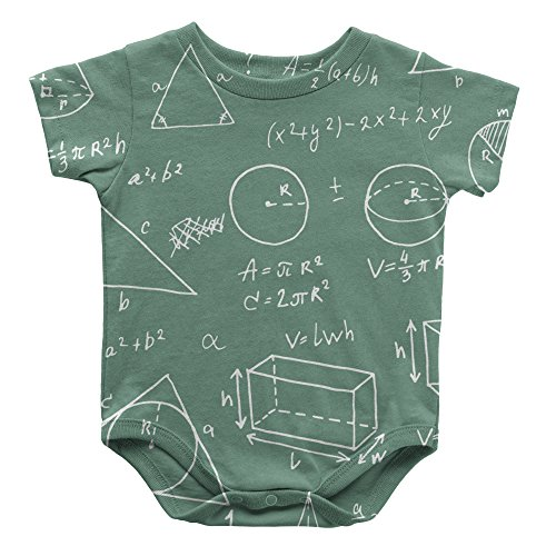 Speedy Pros Math Logo Shapes Infant One Piece Snapsuit Bodysuit 6 Months