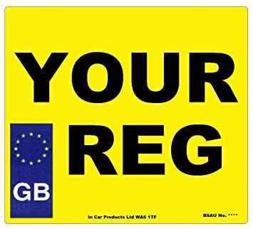 Inex Rear Gb Square Mot Uk Road Legal Car Caravan Van Reg