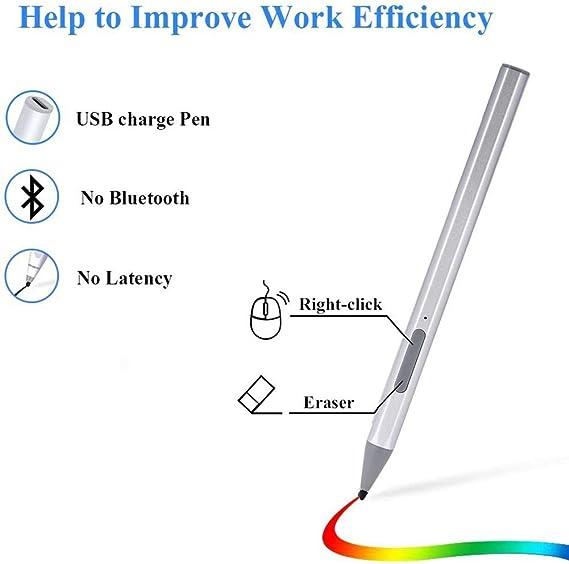 Icejoy タッチペン スタイラスペン Surface Go Pro 5/4/3用 Surfaceタッチペン タッチ磁気ペン 4096筆圧 高感度 傾き感知 自動認識 ブルートゥースとの接続不要 電池式 自動スリープ 節電 幅広い交換性