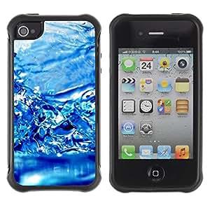 "Hypernova Defender Series TPU protection Cas Case Coque pour Apple iPhone 4 / iPhone 4S [Agua Efecto Azul""]"