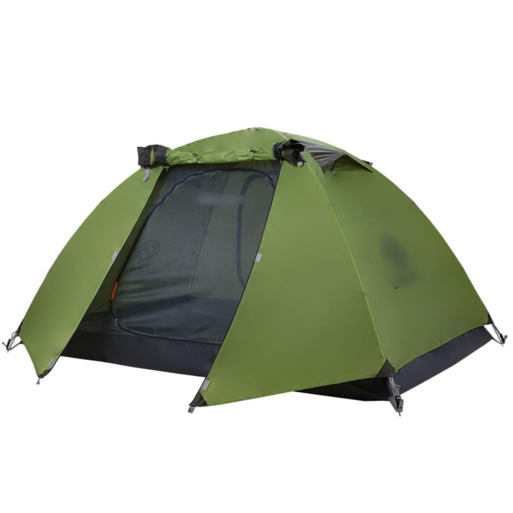 YaNanHome Imprägniern Zelt des Zeltes des Zeltes des Zeltes im Freien Zeltzelt des Zeltpaares mit 1-2 Leuten (Farbe   Grün, Größe   210  140  110cm)