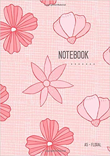 Amazon Com A5 Notebook Floral Dot Grid Notebook Red Cute Flower